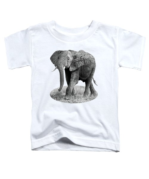 Elephant Happy And Free In Black And White Toddler T-Shirt