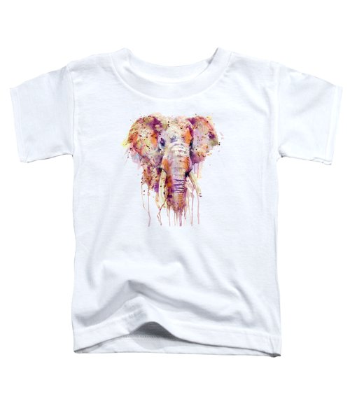 Elephant  Toddler T-Shirt by Marian Voicu