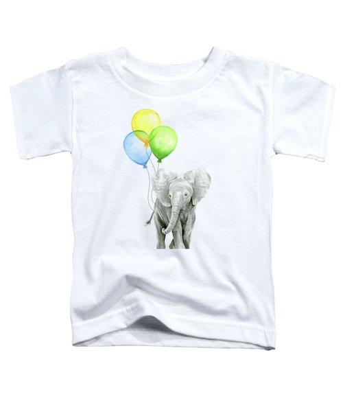 Elephant Watercolor Baby Animal Nursery Art Toddler T-Shirt