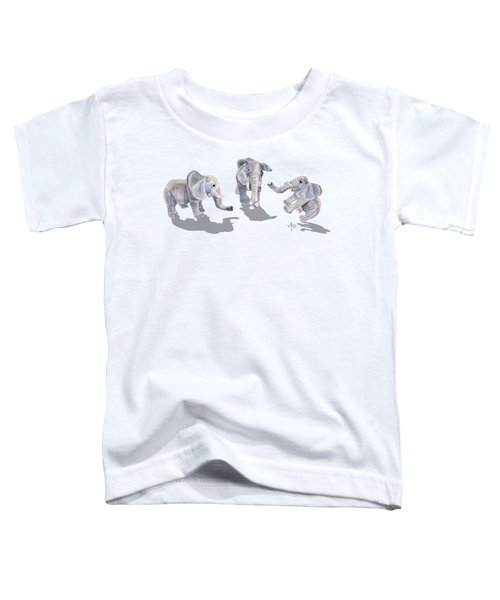 Elephants Toddler T-Shirt by Angeles M Pomata