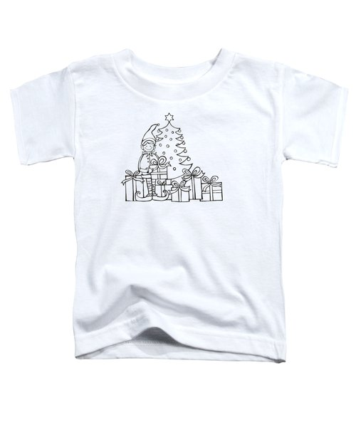 Elf And Presents  Toddler T-Shirt by Mantra Y