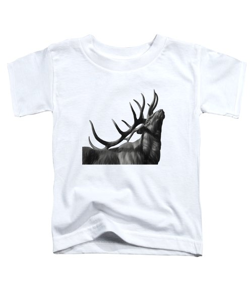 Elk In Black In White  Toddler T-Shirt