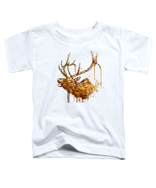 Elk In Watercolor Toddler T-Shirt
