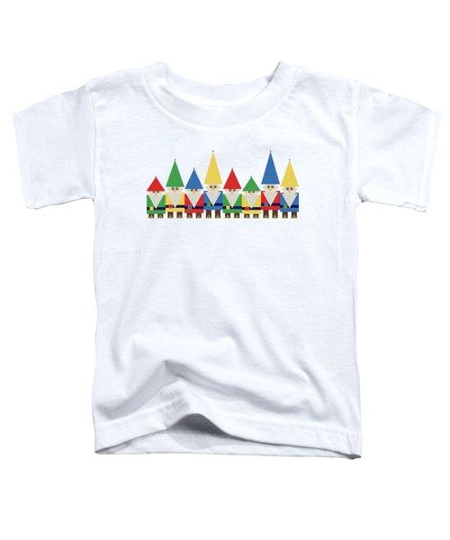 Elves On White Toddler T-Shirt