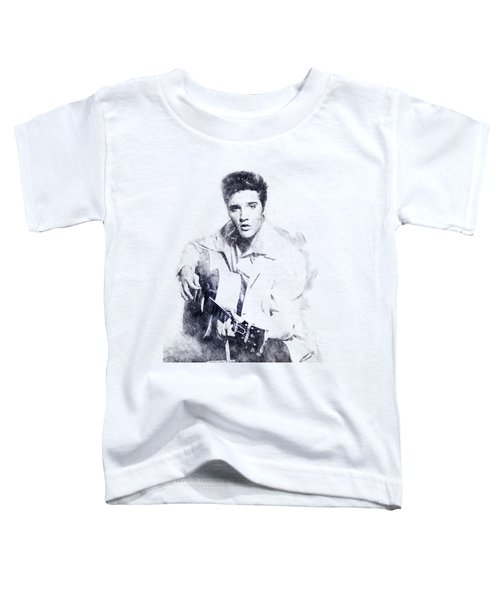 Elvis Presley Portrait 01 Toddler T-Shirt by Pablo Romero