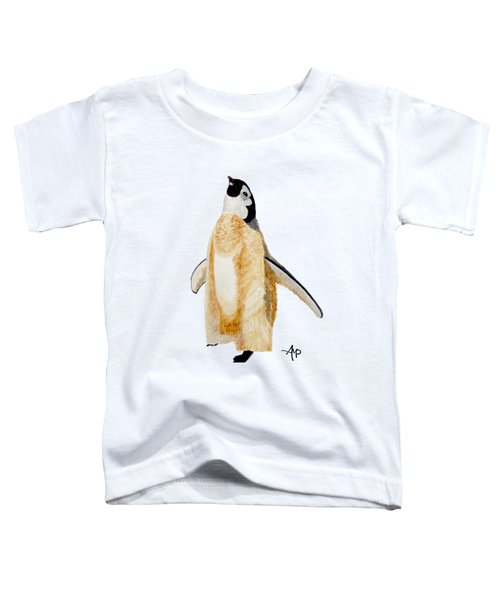 Emperor Penguin Chick Toddler T-Shirt by Angeles M Pomata