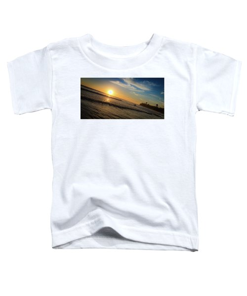 End Of Summer Sunset Surf Toddler T-Shirt