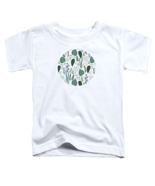 End Of Winter Spring Thaw Garden Pattern Toddler T-Shirt