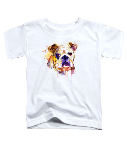 English Bulldog Head Toddler T-Shirt