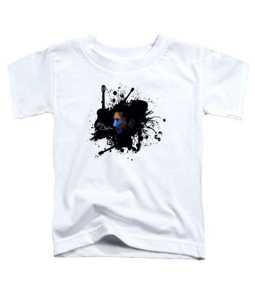 Eric Clapton In Blue Toddler T-Shirt