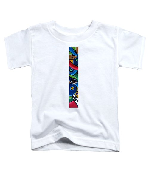 Colorful Abstract Art Painting, Modern Art Brown Eye Art Paintings Toddler T-Shirt