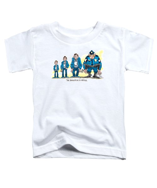Evolution Of Apple Toddler T-Shirt