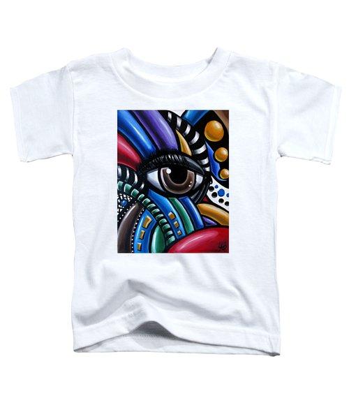 Eye Abstract Art Painting - Intuitive Chromatic Art - Pineal Gland Third Eye Artwork Toddler T-Shirt