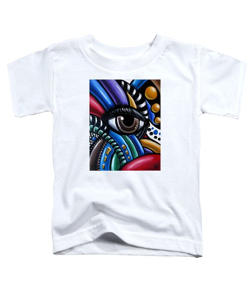 Eye Abstract Art Painting - Intuitive Chromatic Art - Pineal Gland Third Eye Artwork Toddler T-Shirt