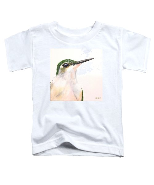 F. Ruby Throated Hummingbird Toddler T-Shirt