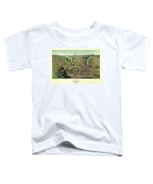 Bird's Eye View Of Cumberland, Maryland 1906 Toddler T-Shirt