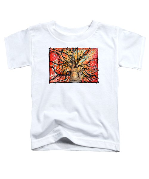 Fall Flush - Looking Up An Autumn Tree Toddler T-Shirt