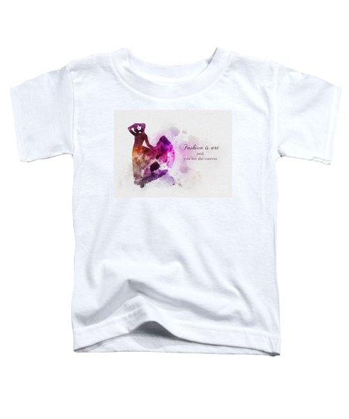 Fashion Is Art Toddler T-Shirt
