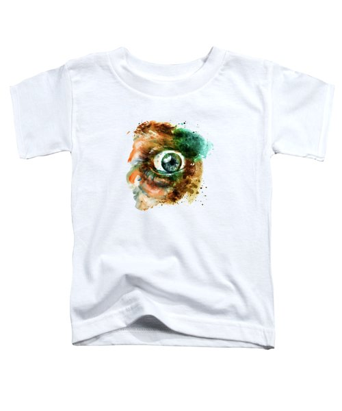 Fear Eye Watercolor Toddler T-Shirt by Marian Voicu