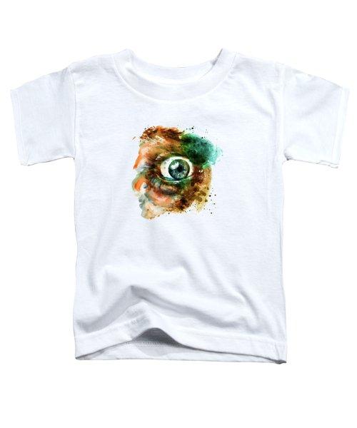 Fear Eye Watercolor Toddler T-Shirt