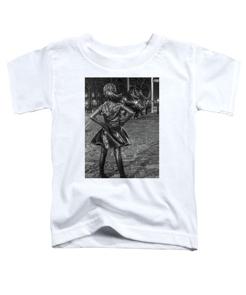 Fearless Girl And Charging Bull Nyc Toddler T-Shirt