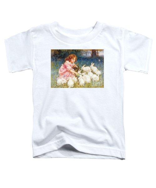 Feeding The Rabbits Toddler T-Shirt by Frederick Morgan