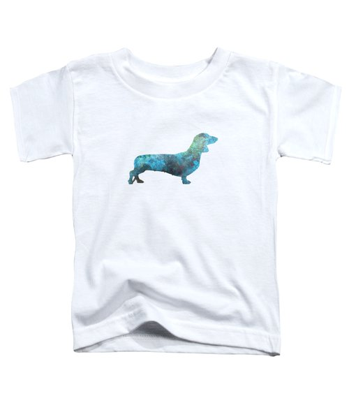 Female Dachsund In Watercolor Toddler T-Shirt by Pablo Romero