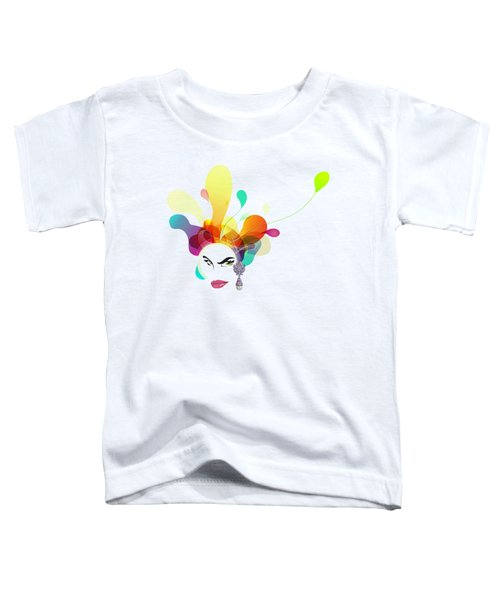 Female Face Abstract Toddler T-Shirt