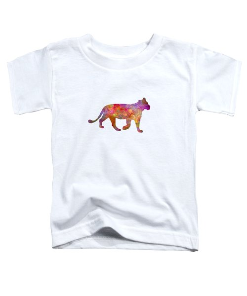 Female Lion 01 In Watercolor Toddler T-Shirt by Pablo Romero