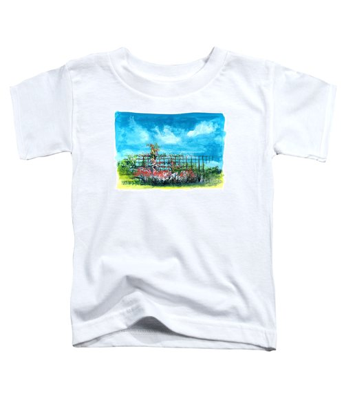 Fenceline Floral Toddler T-Shirt