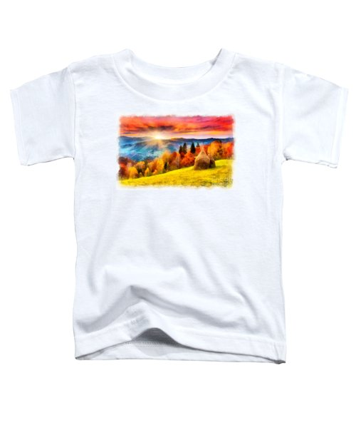 Field Of Autumn Haze Painting Toddler T-Shirt