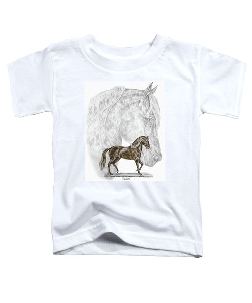 Fine Steps - Paso Fino Horse Print Color Tinted Toddler T-Shirt