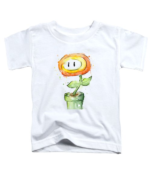 Fireflower Watercolor Painting Toddler T-Shirt