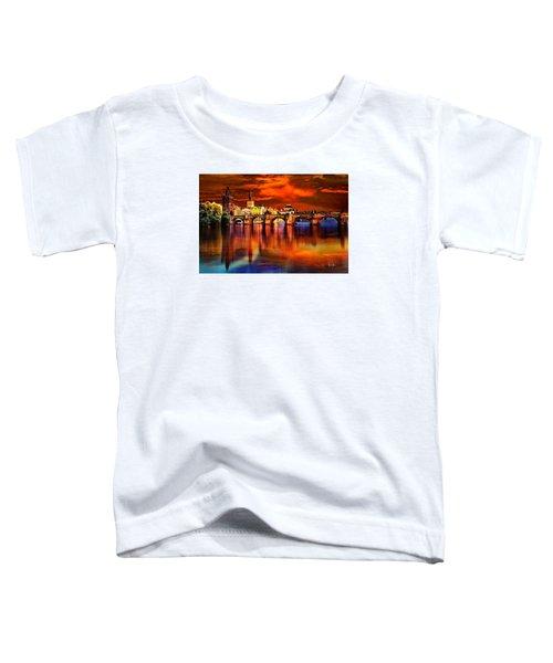 Fiery Prague Sunset Toddler T-Shirt