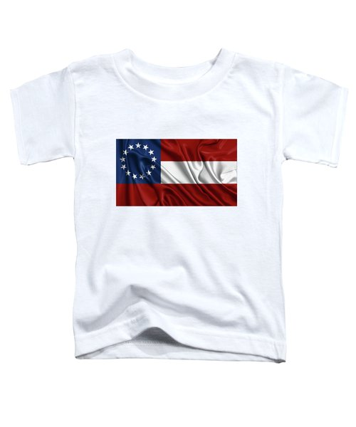 First Flag Of The Confederate States Of America - Stars And Bars 1861-1863 Toddler T-Shirt