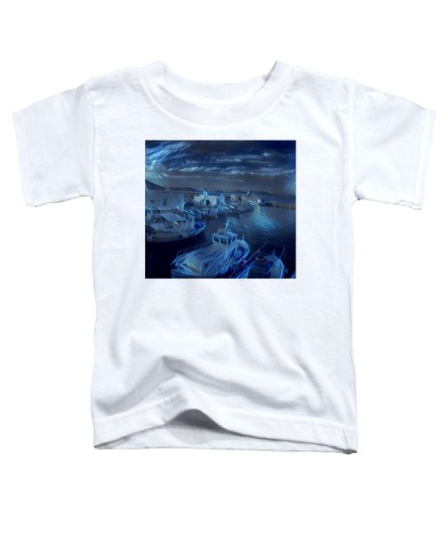 Toddler T-Shirt featuring the photograph Fish Harbour Paros Island Greece by Colette V Hera Guggenheim