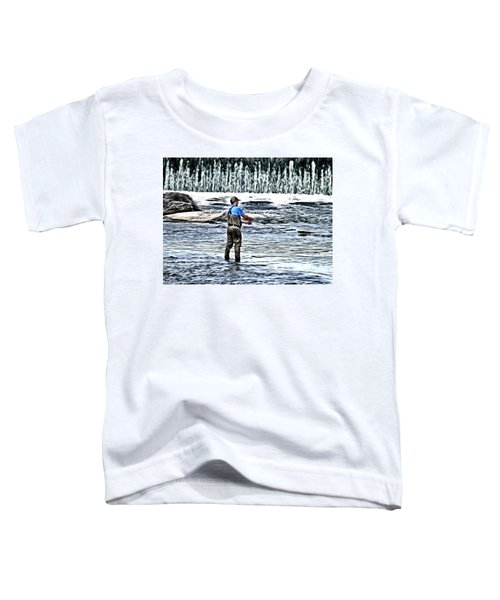 Fisherman On The River Toddler T-Shirt