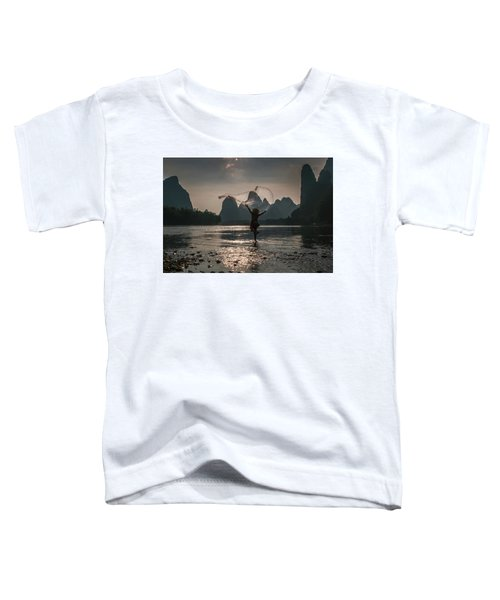 Fisherman Casting A Net. Toddler T-Shirt
