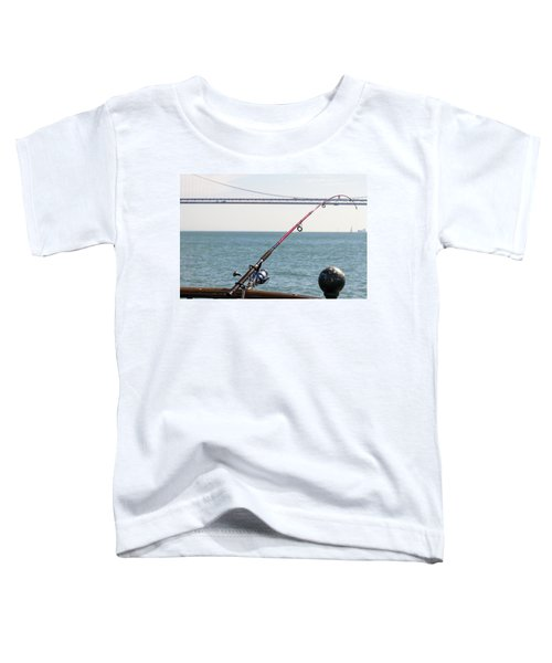 Fishing Rod On The Pier In San Francisco Bay Toddler T-Shirt