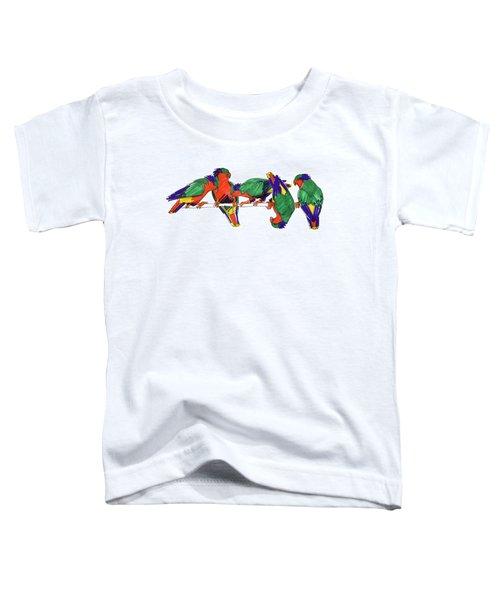 Five Rimatara Lorikeets Toddler T-Shirt