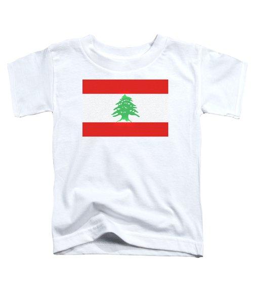 Flag Of Lebanon Wall Toddler T-Shirt