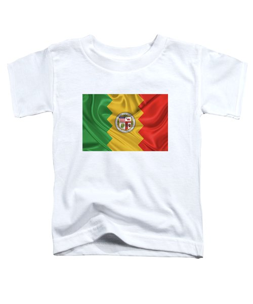 Flag Of The City Of Los Angeles Toddler T-Shirt by Serge Averbukh
