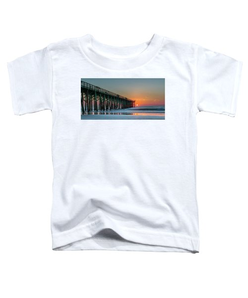 Flagler Pier Sunrise Toddler T-Shirt