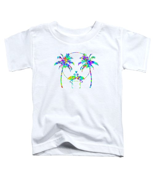 Flamingos In Love - Splatter Art Toddler T-Shirt by SharaLee Art
