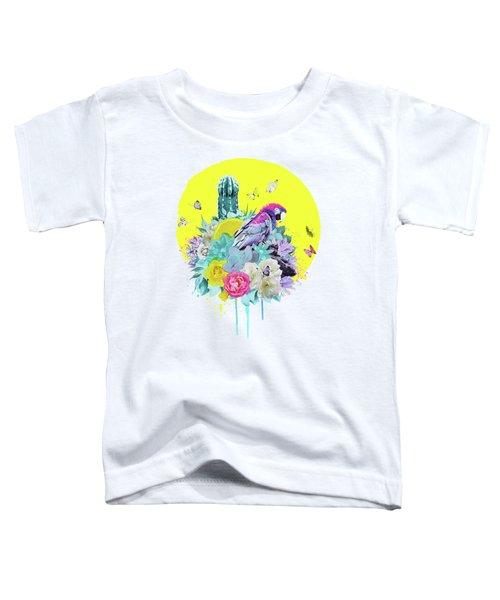 Floral Ara Toddler T-Shirt