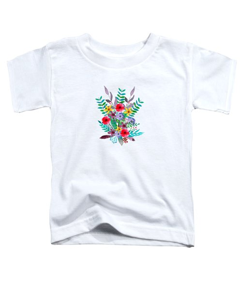 Floral Bouquet Toddler T-Shirt by Amanda Lakey