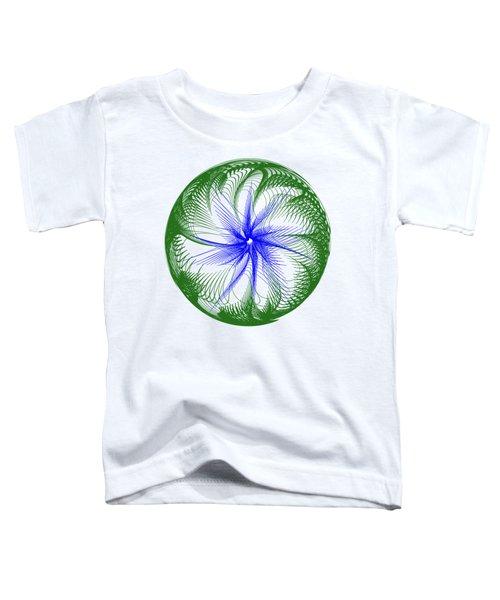 Floral Web - Green Blue By Kaye Menner Toddler T-Shirt by Kaye Menner