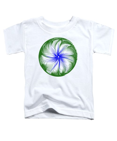 Floral Web - Green Blue By Kaye Menner Toddler T-Shirt