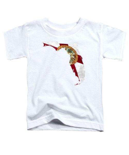 Florida Map Art With Flag Design Toddler T-Shirt