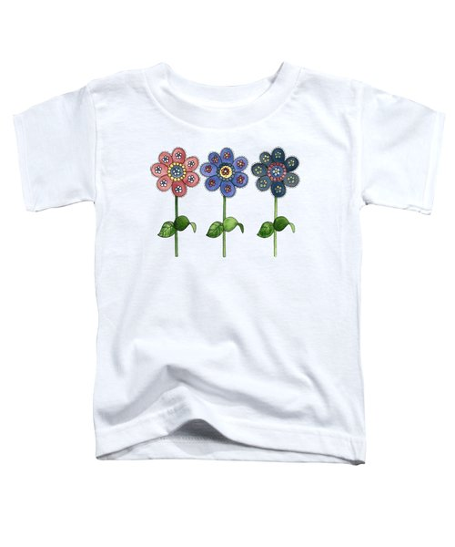 Flower Row Toddler T-Shirt